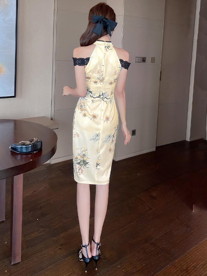 Elegant Sexy New Off Shoulder Improved Cheongsam