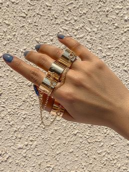 Street Chain Simple Rings Set For Women
