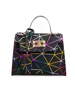 Korean Street Triangles Printed Chain Shoulder Bag