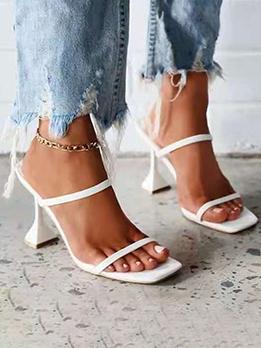 White Goblet Heel Sexy Stylish Heel Slippers