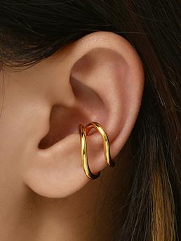 Popular Solid Geometric Alloy Material Earrings