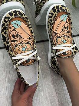 Vintage Contrast Color Design Casual Slip On Shoes
