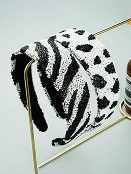 Popular Zebra Print Broadside Women Hair Hoop