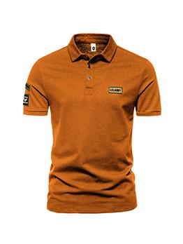 Casual Short Sleeve Loose POLO Shirt For Men