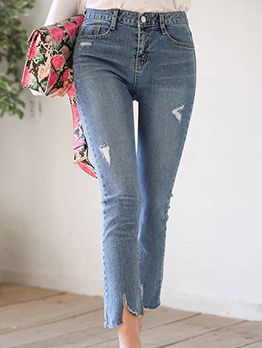 New Modern Fitted High Waisted Women Jeans