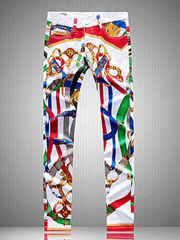 Novelty Print Stylish Long Pants For Men