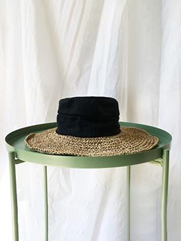 Chic Patchwork Weave Beach Fisherman Hat