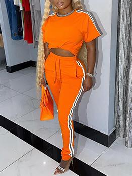 Sport Contrast Color Ladies Gym Wear