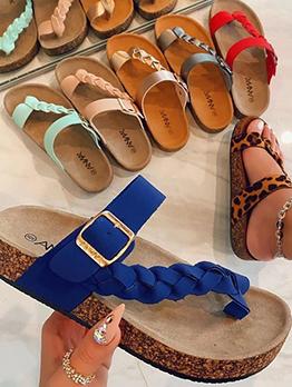 New Contrast Color Flip Flop Slippers
