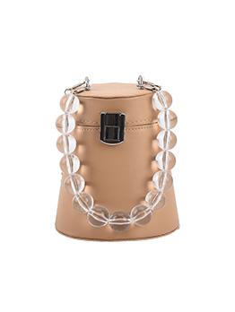 Simple Trendy Cylindrical Shape Design Bucket Bag