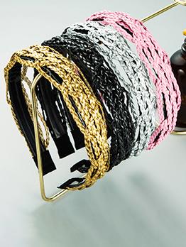 Personality Weaving Vintage Simple Hair Hoop