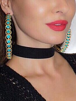 Fashion Luxury Rhinestone Geometry Earrings Ladies