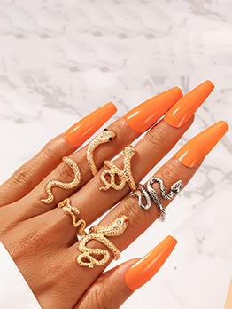Latest Style Snake Shape Chic Unisex Ring Sets