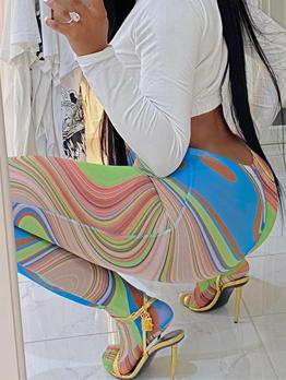 Attractive Skinny Chic Print Long Pants
