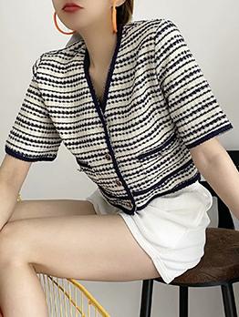 V Neck Short Sleeve Casual Coat