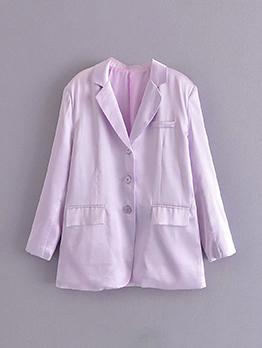 New Purple Single Button Ladies Blazer