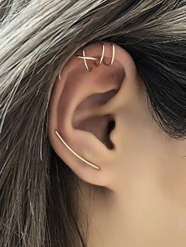 Sweet Particular Solid Geometry Women Earring