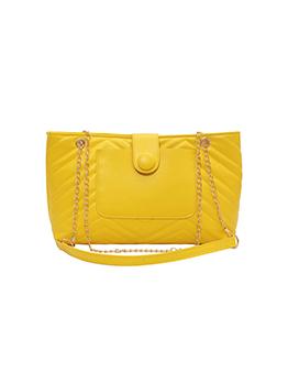 Women Casual Solid Hasp Soft Tote Shoulder Bag