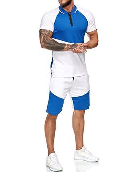 Summer Contrast Color Short Sleeve Activewear