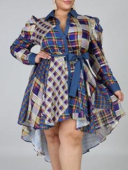 Fashion Denim Cardigan Single-Breasted Long Sleeve Dress