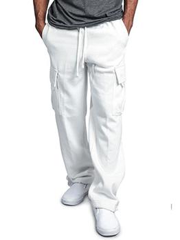 Fashion Popular Solid Pocket Loose Cargo Pants
