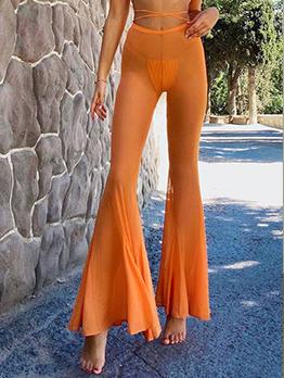 New Gauze Skinny Flare Long Pants
