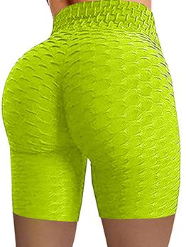 Skinny Solid Sport Springy Short Leggings For Women