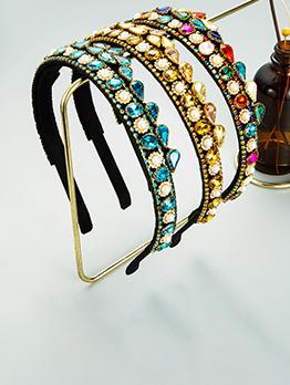 Crown Shape Design Inlay Rhinestone Vintage Hair Hoop