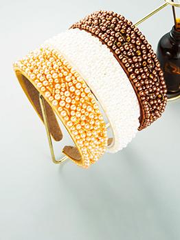 Latest Style Full Faux-Pearl Trendy Hair Hoop