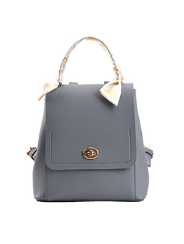 Preppy Style Scarf Solid Backpack For Women