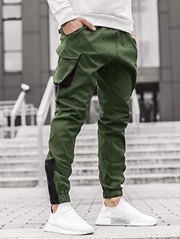 Fashion Contrast Color Track Long Pants