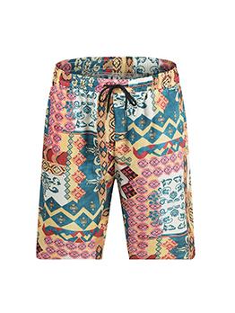 New Loose Colorful Print Short Pants