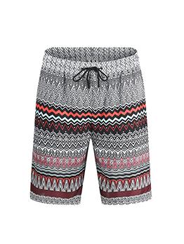 Summer Drawstring Print Half Pants Men