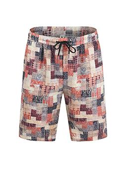 Fashion Contrast Color Half Pants Men