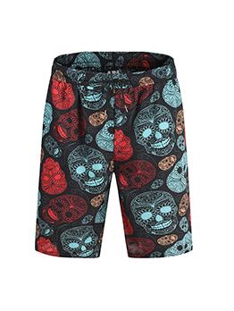 Loose Skull Straight Short Pants Summer