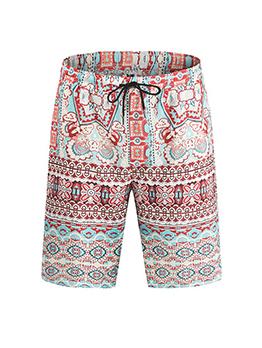 Casual Loose Drawstring Short Pants Men