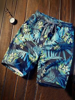 New Beach Print Short Pants Men