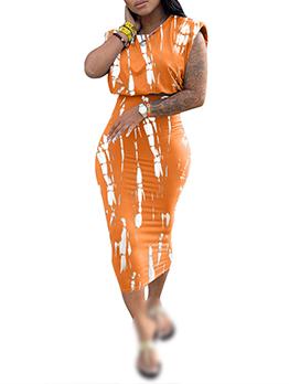 Fashion Tie Die 2 Piece Skirt Set