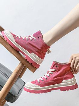 Easy Matching Canvas Versatile Height Increasing Women Sneakers