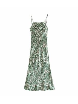 New Fashion Print Sleeveless Maxi Dress