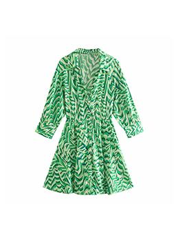 Pretty Green Smart Waist Long Sleeve Dress