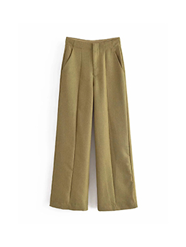 Early Autumn Solid Wide Leg Long Pants