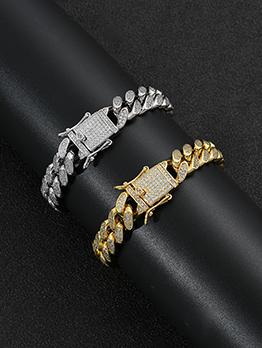 Hip Hop Zircon Cuban Bracelet For Men