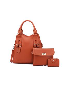 Summer Solid Soft Handbags Set For Women