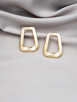 Korean Style Geometry Shape Women Earrings