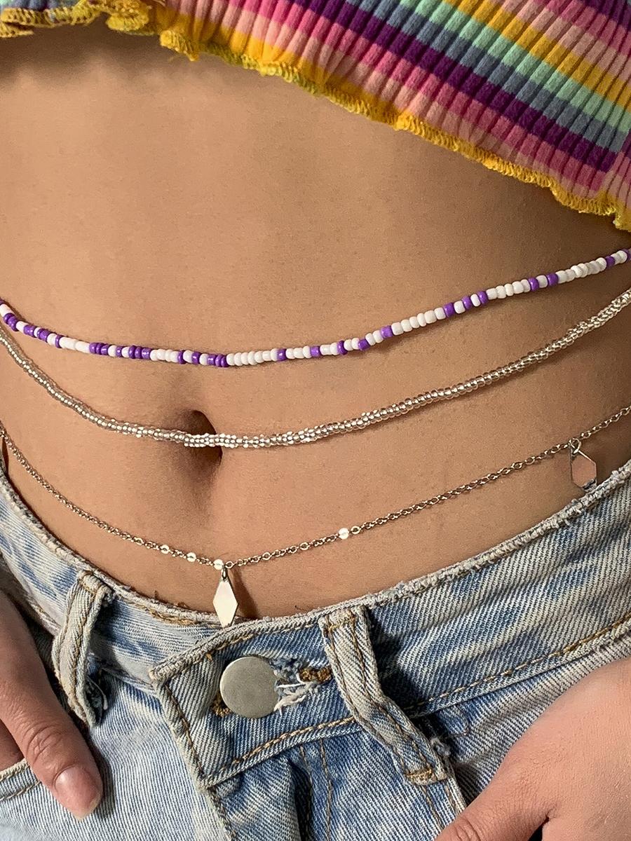 Sexy Beach Style Beading Waist Chain Women