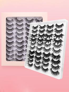 Natural Black Pure Handmade 20 Pairs False Eyelashes