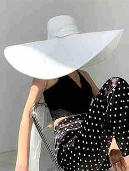 Summer White Fashion Beach Straw Sun Hat
