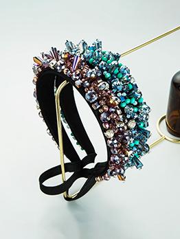 Ball Catwalk Hair Hoop Vintage Faux-Crystal Design