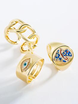 Latest Style Geometry Zircon Unisex Ring